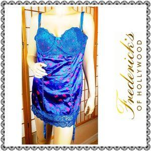 {Frederick's of Hollywood} blue garter nightie, XL